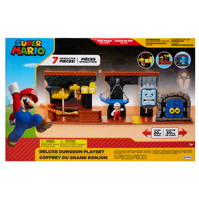 Nintendo Super Mario 12pcs.  Deluxe Dungeon Playset