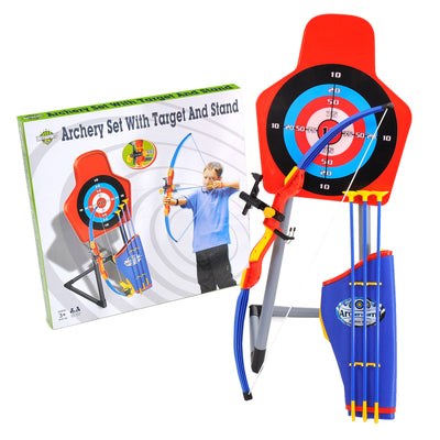 Archery Set with Red Laser Target and Stand