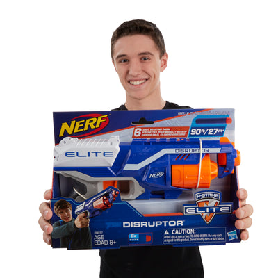 Nerf Disruptor Elite Blaster, 6-Dart Rotating Drum, Slam Fire