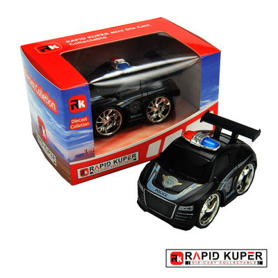 Pull & Back, Die Cast, Police Series, Color Tail Black