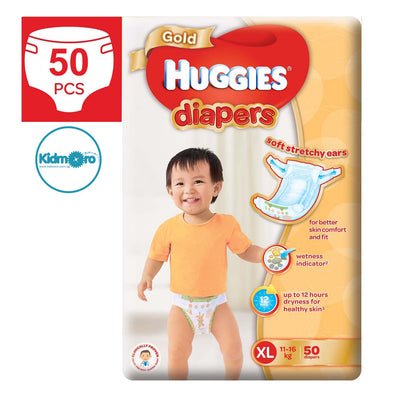 Huggies Gold Tape Diapers (Size XL)