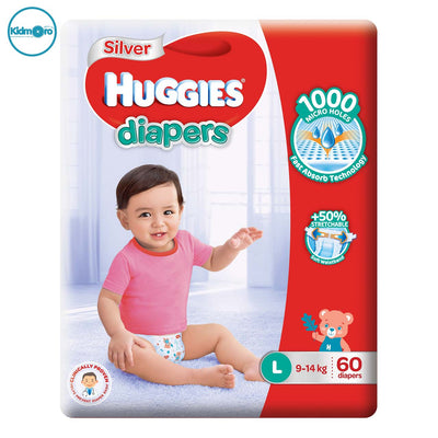 Huggies Silver Tape Diapers (Size L)