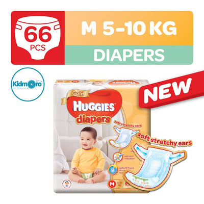 Huggies Gold Tape Diapers (Size M)