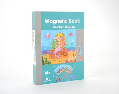 Magnetic Playbook Puzzle, Sea Creatures Spell Theme