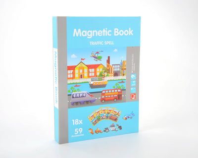 Magnetic Playbook Puzzle, Traffic Spell Theme