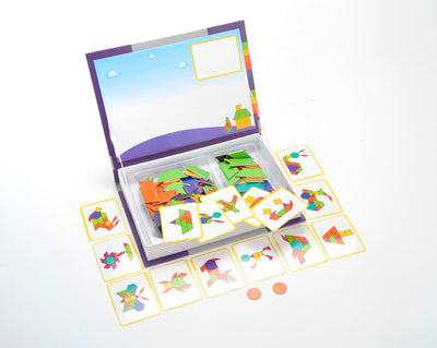 Magnetic Playbook Puzzle, Shape Spell Theme