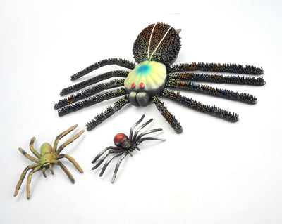 3-in-1 Giant Spider in a Pouch, Model Action Figure Soft Vinyl Plastic