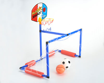 2in1 Basketball and Football Stand Game Set