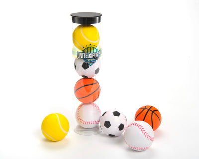 2.5-inch PU Bundle Ball, 4 in 1, Basketball, Tennis Ball, Baseball, Soccer Ball