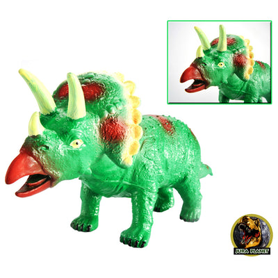 Triceratops Dinosaur, Model Action Figure Soft Vinyl Plastic