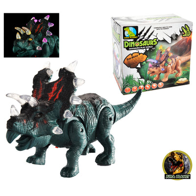 Music Styracosaurus Dinosaur, Model Action Figure Soft Vinyl Plastic