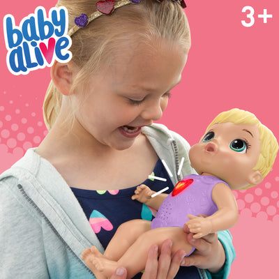 Baby Alive Happy Heartbeats Baby Doll, Responds to Play with 10+ Sounds and Blinking Heart
