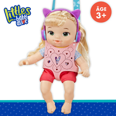 Littles by Baby Alive, Carry 'n Go Squad, Little Chloe Blonde Hair Doll, Doll Carrier, Accessories