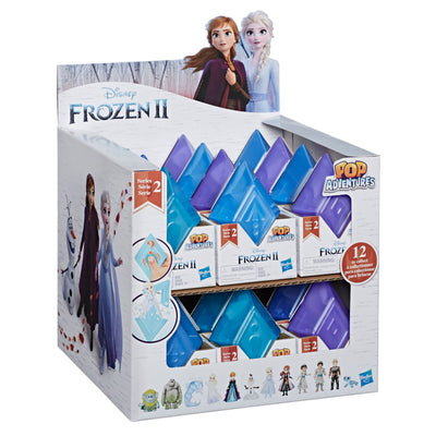 Disney Frozen Pop Adventures Series 2 Blind Box With Frozen Dolls in Crystal-Shaped Case, Toy for Kids