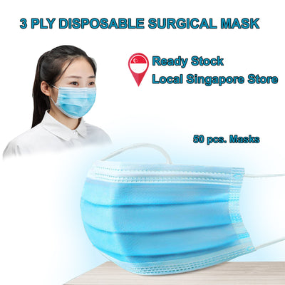 50 Pcs. 3PLY Disposable Surgical Mask, Ear-loop and Elastic