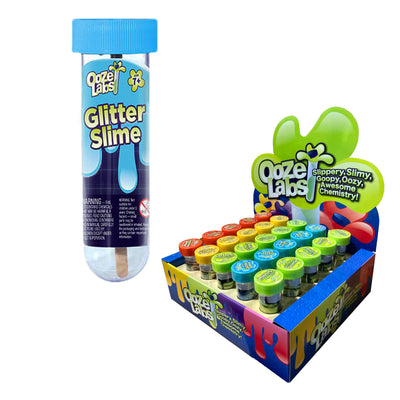 Ooze Labs, Mix Your Own, Hypercolor, Sunshine, Glow in the Dark, Glitter Slimes