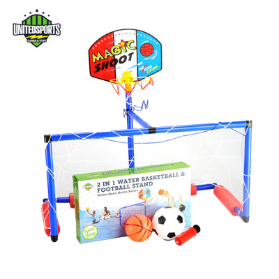 2 in 1 Water Basketball and Football Stand