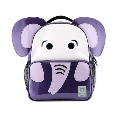 Beddy Bear Kids School Bag - Purple Elephant Design