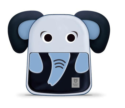 Beddy Bear Kids School Bag - Blue Elephant Design