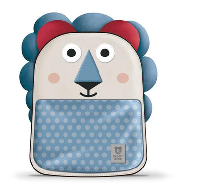 Beddy Bear Kids School Bag - Blue Lion Design
