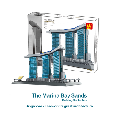 The Marina Bay Sands of Singapore Building Bricks Sets (881pcs.)