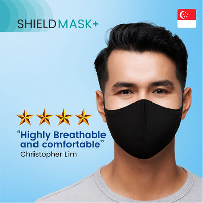 ShieldMask+ 4 Layers Protection Face Mask for Adults and Kids, Washable, Adjustable Fit