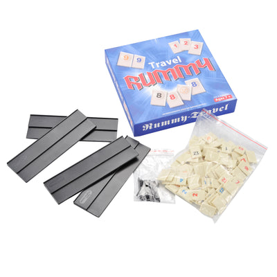 Rummy Mini Travel 2 to 4 Players, Traditional Board Game