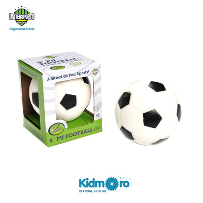 5-inch PU Soccer Ball Black and White, Kids Sport Indoor/Outdoor Play