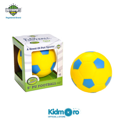 5-inch PU Soccer Ball Yellow, Kids Sport Indoor/Outdoor Play