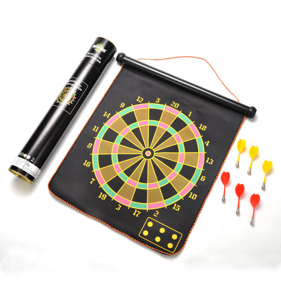 Classic Magnetic Dartboard, Fold-able, Double Sided