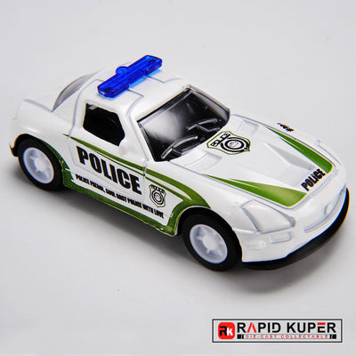 Car Series, Die Cast, Color White Green