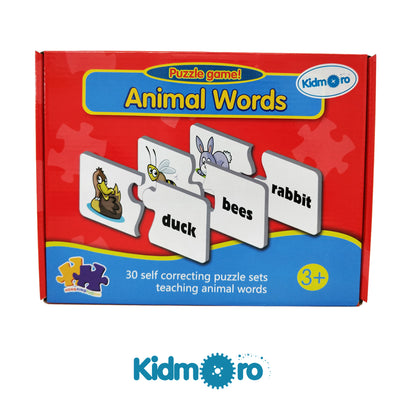 Animal Words Puzzle Game