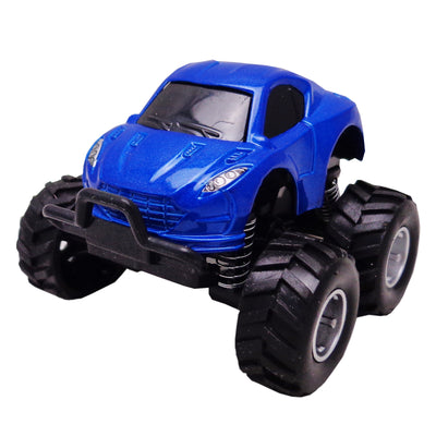 Pull & Back, Die Cast, Monster Series, Color Blue