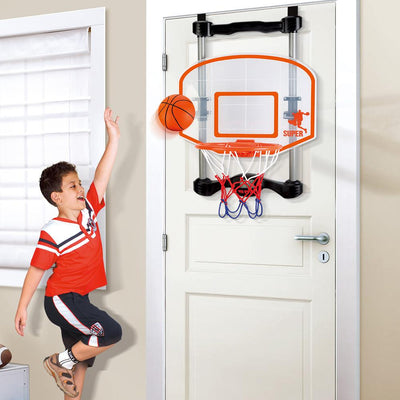 Indoor Basketball Hoop Set, Door Hanging, Automatic Score Record