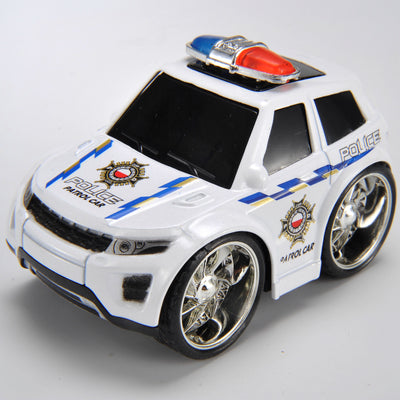 Pull & Back, Die Cast, Police Series, Color White