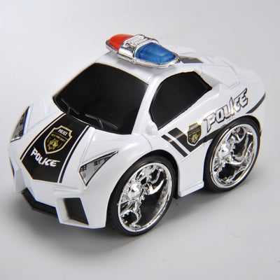 Pull & Back, Die Cast, Police Series, Color White/Black