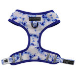 Big & Little Dogs Blue Tie Dye Adjustable Harness