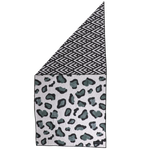 Big & Little Dogs Beach Towel with pouch: Leopard