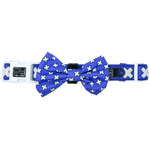 Big & Little Dogs Blue X's Collar & Bow Tie