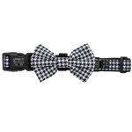Big & Little Dogs Houndstooth Squad Collar & Bow Tie