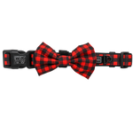 Big & Little Dogs Plaid to the Bone Collar & Bow Tie