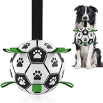 Interactive Dog Soccer Ball With Grab Tabs