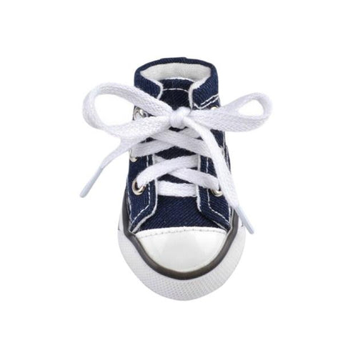 Lace Up Canvas Dog Sneakers - Navy