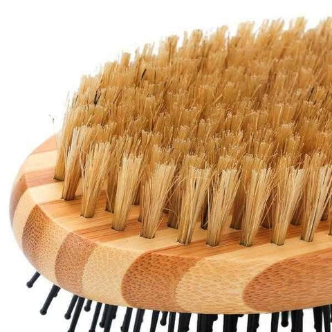 Image of ### Bamboo Double Sided Grooming Brush-DoggyTopia