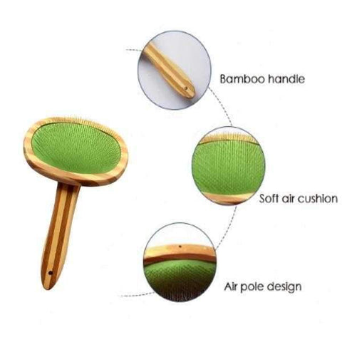 Image of ### Bamboo Slicker Brush-DoggyTopia
