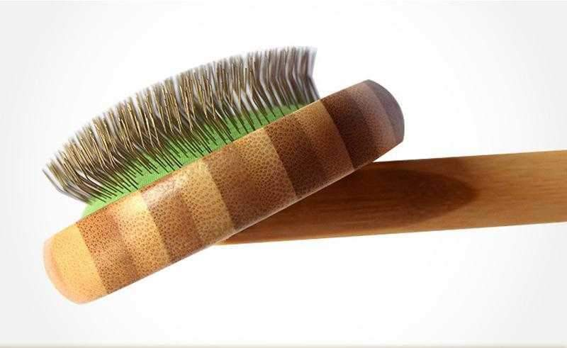 ### Bamboo Slicker Brush-DoggyTopia