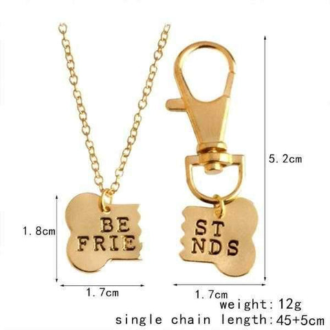 Best Friends Bone Necklace & Collar Charm-DoggyTopia