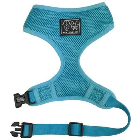 Big & Little Dogs Classic Harness Blue-DoggyTopia