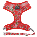 Big & Little Dogs Classic Print Harness: Cherrylicious-DoggyTopia