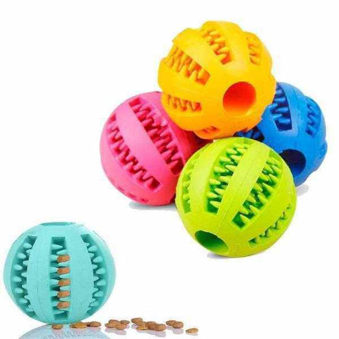 Image of Bouncy Rubber Dental Treat Ball-DoggyTopia